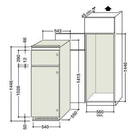 габариты холодильника габариты стандартного встроенного и